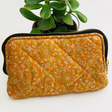 Load image into Gallery viewer, Premium Recycled Silk Make-up Bag (One-Off Print)