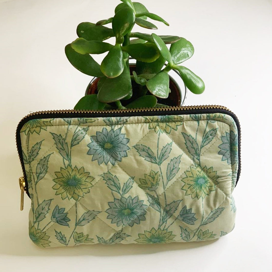Premium Recycled Silk Make-up Bag (One-Off Print)