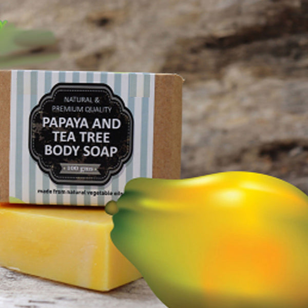 100% Natural Organic Handmade Soap Papaya Tea Tree