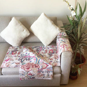 Hand Embroidered Kantha Quilt