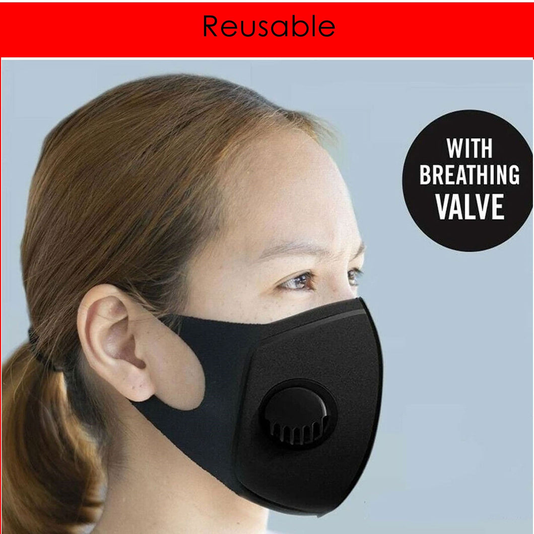 Pack of 5 Reusable Mask with Valve