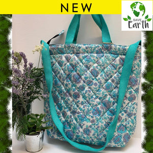 Recycled Silk Tote Bag (One-Off Print)