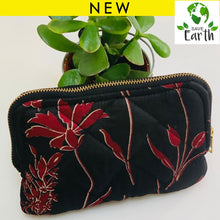 Load image into Gallery viewer, Recycled Silk Cosmetic Bag (One-Off Print)