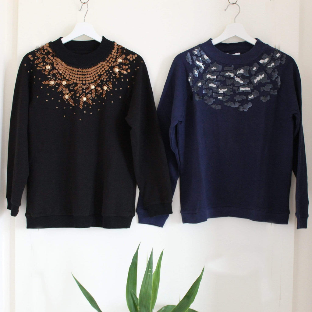 2 Sequin Sweatshirts