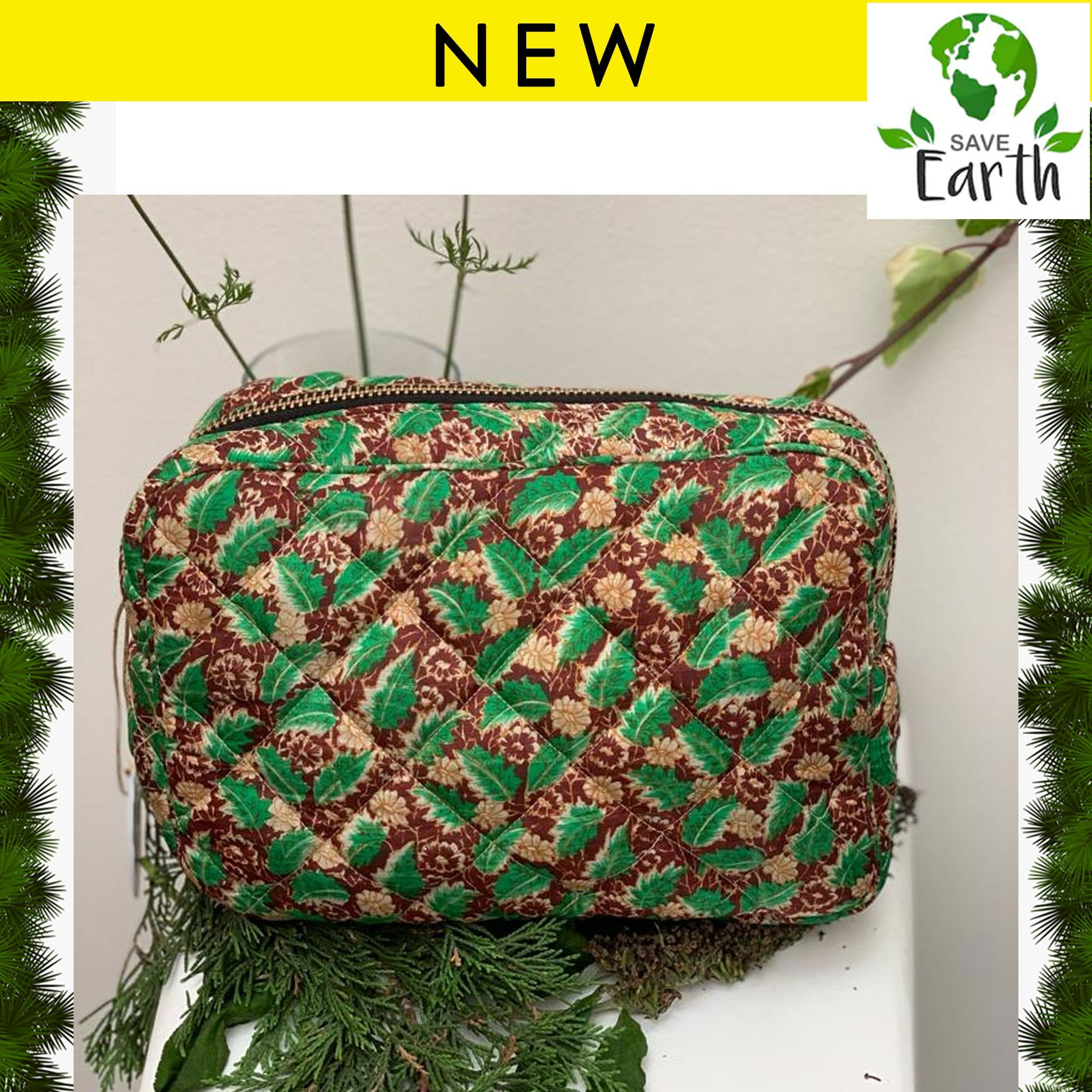Premium Recycled Silk Washbag (One-Off Print)