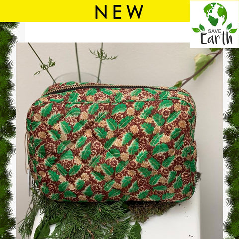 Recycled Silk Washbag (One-Off Print)