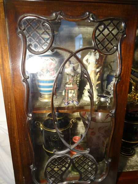 Magnificent Large Antique Carved Chippendale Style Display Cabinet