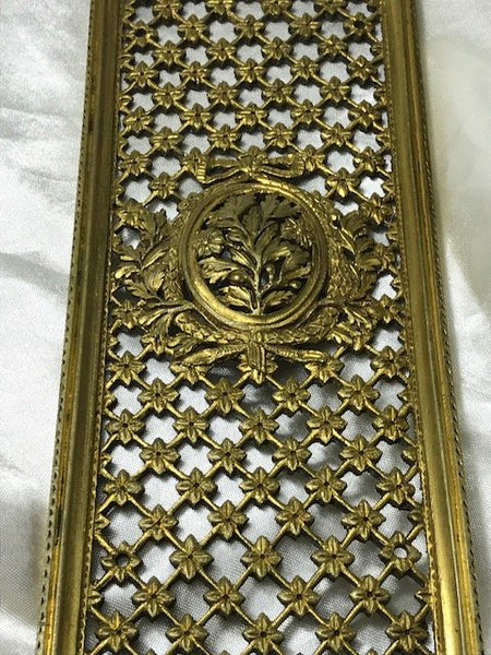 Rare Finest Early 19th Century Antique Regency Gilt Bronze Front Door Plaque