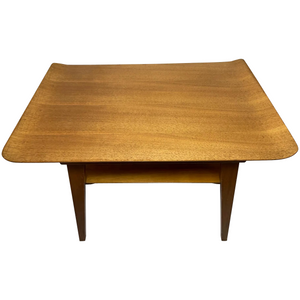 British Vintage Mid 20th Century Myer Curved Top Teak Coffee Table