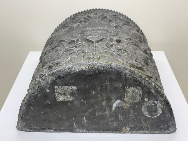 Antique 19th Century Qing Dynasty Guangxu Period Chinese Blue White Tulips Vase