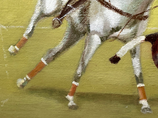 1 Small Vintage French Round Cherrywood Paris Roses Coffee Table