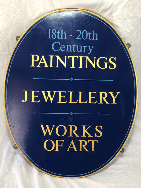 1 Antique Shop Business Sign 18th-20th Century Paintings Jewellery Works Of Art