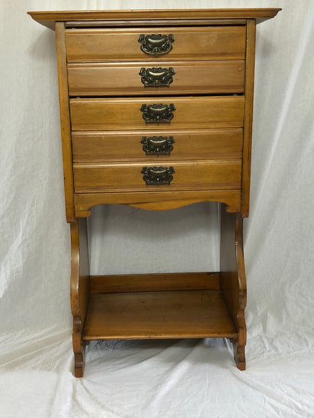 Victorian Antique Music Sheet  Storage Chest Drawers Satin Walnut