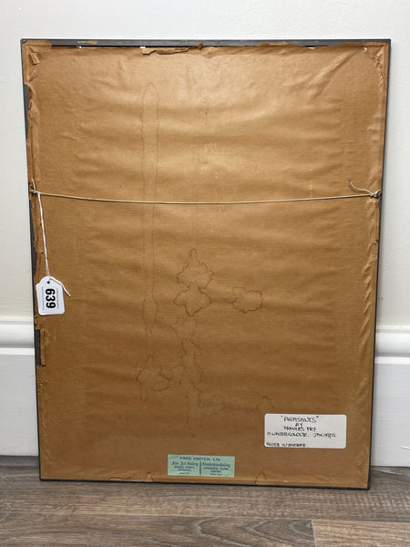 Original Nautical Oil Painting London Coaster Trading Vessel Sail Ship High Seas