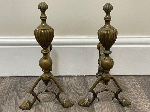 Stunning Pair Vintage Small French Louis XVI Style Gilt Candelabra Candlesticks