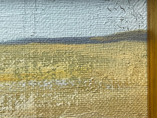 "Fine English Art Oil Painting Prized Animal ""Grey Farm Pig In Sty"" Portrait"