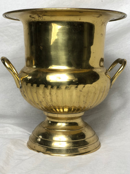 Vintage French Louis XVI Style Gilt Silver Plate Champagne Ice Cooler Vase Urn