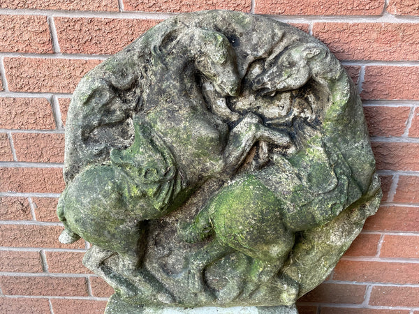 Pair Early Victorian 19th Century Antique Castle Landscape Oil Paintings Signed J Russell