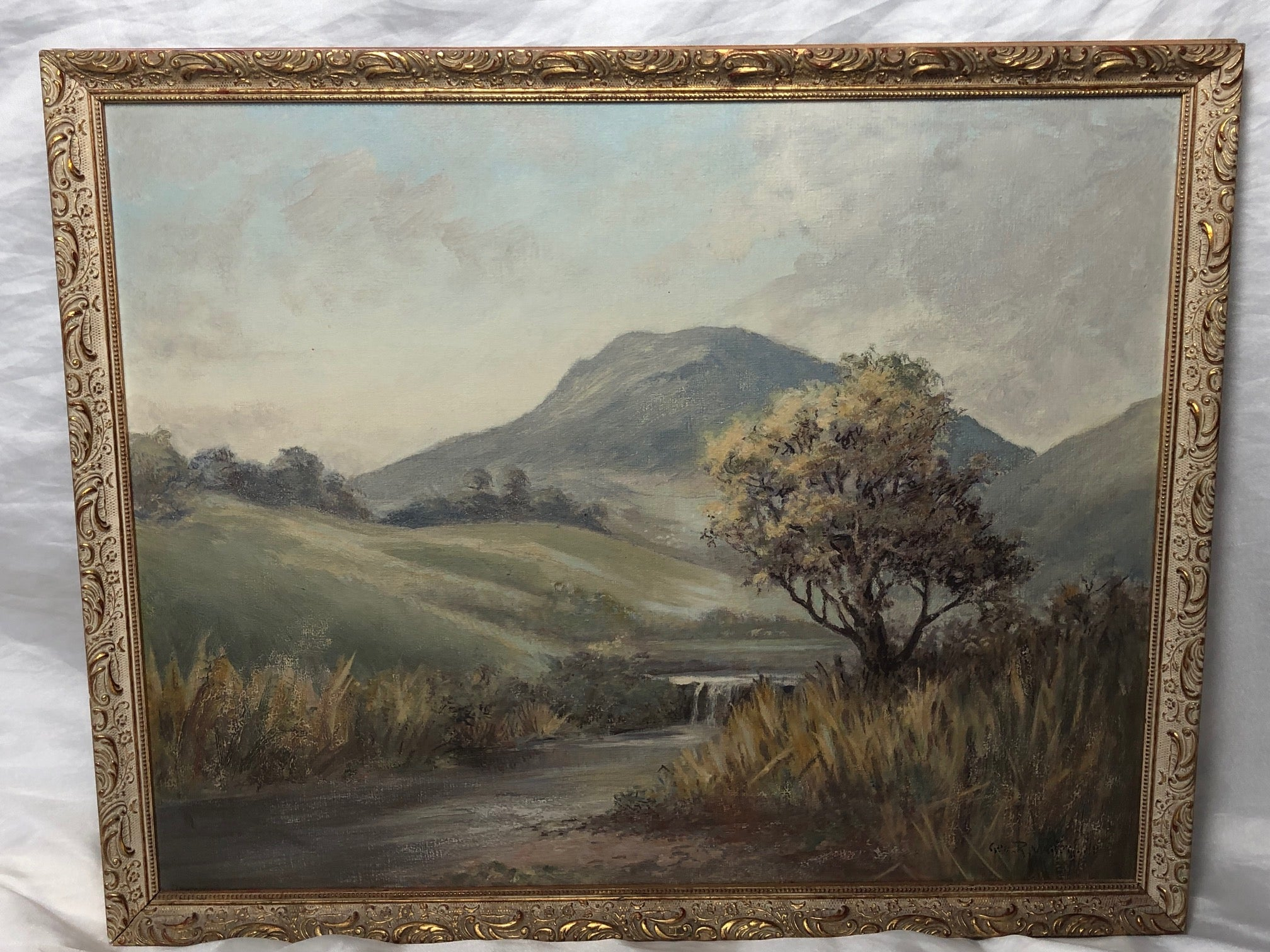 English School Oil English Rural Landscape Painting Listed George R Waterfield
