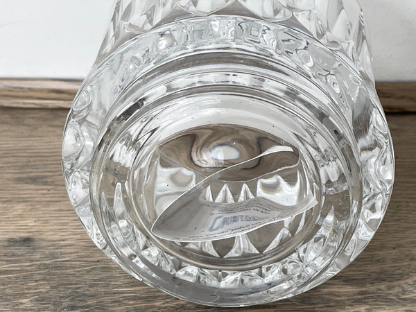 Contemporary Italian Silver Crystal Glass Lidded Domed Scent Bowl