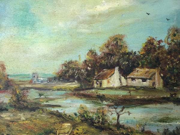 Victorian Impressionist English Oil Painting Landscape After Antoine Guillemet