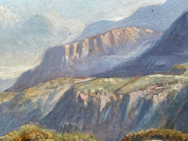 Fine Art English Oil Painting Cattle Cows & Sheep After Thomas Sidney Cooper