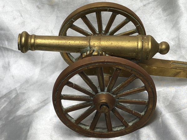 Fine Small Antique English 19th Century Victorian Brass Cannon Ornament