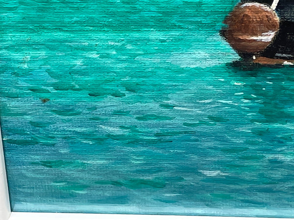 Fine Art 20th Century German Oil Painting Banquet Red Lobster