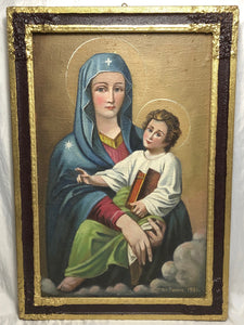 Fine Early 20th Century European School Artwork Religious Portrait Oil Painting