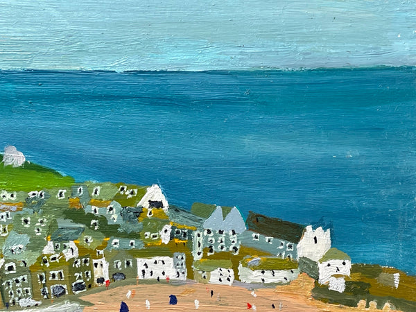 2 fine Hand Painted Small Gilt Bronzed Stone Retriever Dog Sculptures