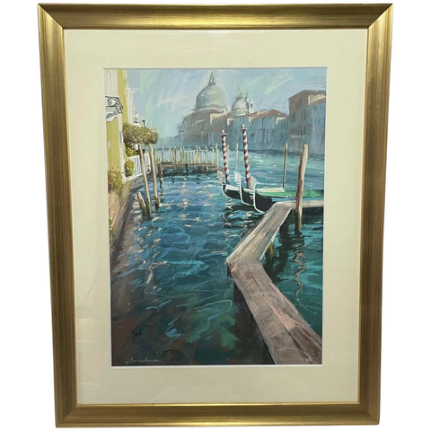 "Mixed Media Painting ""The Grand Canal & San Salute"" By James Bartholomew RSMA"
