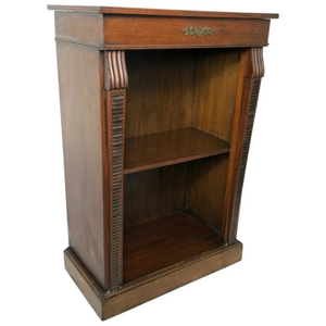 Fine Small Regency Style Dwarf Mahogany Open Bookcase Display Cabinet