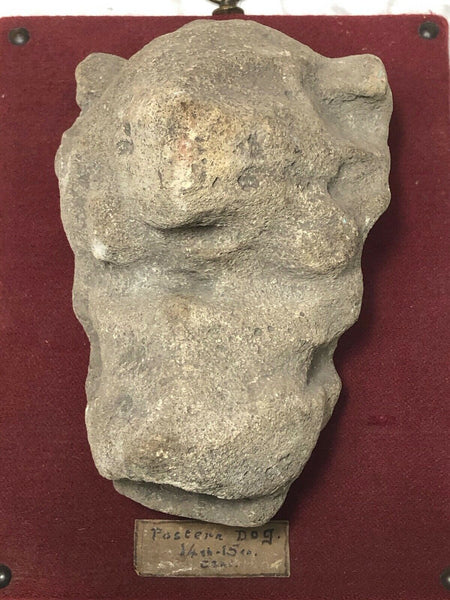 20th Century Postern Grotesque Dog Architectural Stone Sculpture Wall Plaque