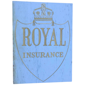 Reclaimed Large Architectural Marble & Gilt Inscribed Royal Insurance Building Sign