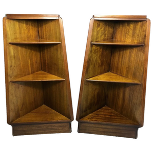 Pair Vintage G Plan E Gomme Pyramid Small Bedside Table Bookcases