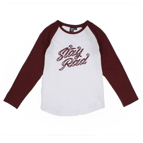 Stay Rad Long Sleeve Tee - Alphabet Soup