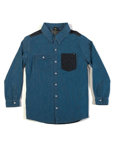 Slick Denim Shirt - Alphabet Soup Clothing