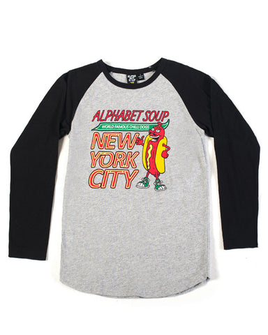 Hot Diggity Dog Long Sleeve Raglan Tee - Alphabet Soup Clothing