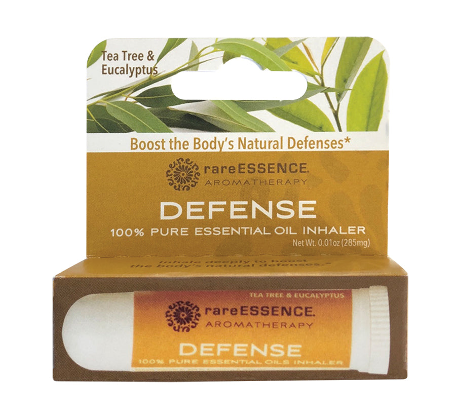 Box of rareEssence Defense 100% Pure Essential Oil Inhaler.