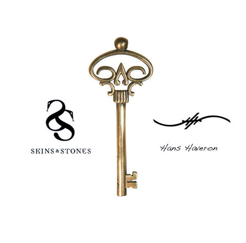 Official Hans Haveron Tattoo Skeleton Key Pendant - Medium