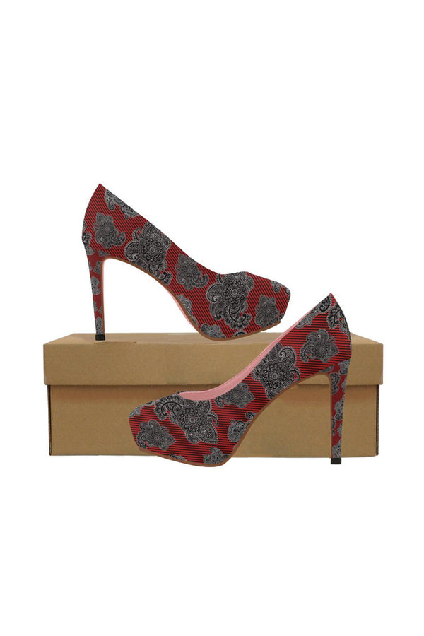 Paisley Power Women's High Heels - Objet D'Art Online Retail Store