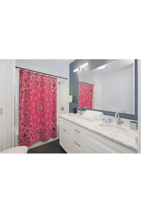 Pink Bandana Shower Curtains