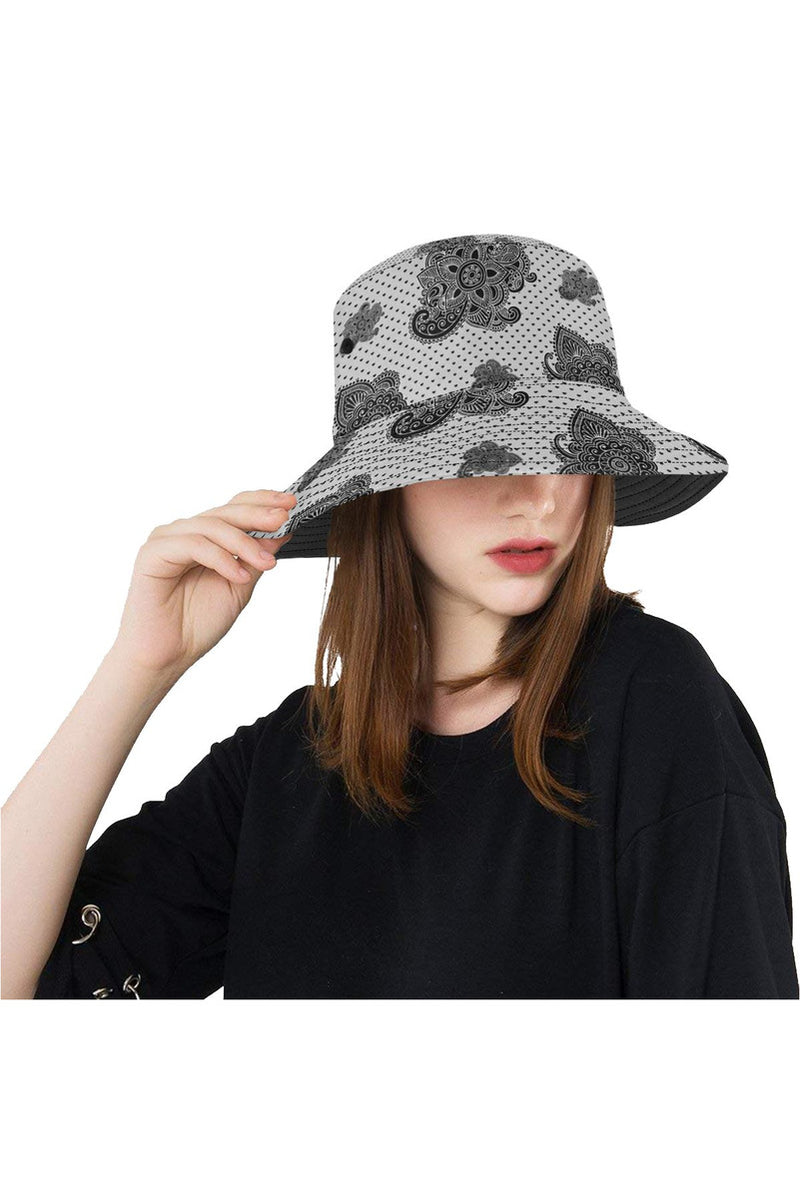 Paisley Hearts All Over Print Bucket Hat - Objet D'Art Online Retail Store
