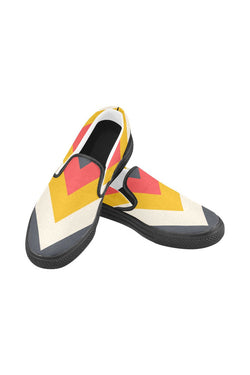 Chevron Men's Slip-on Canvas Shoes - Objet D'Art Online Retail Store