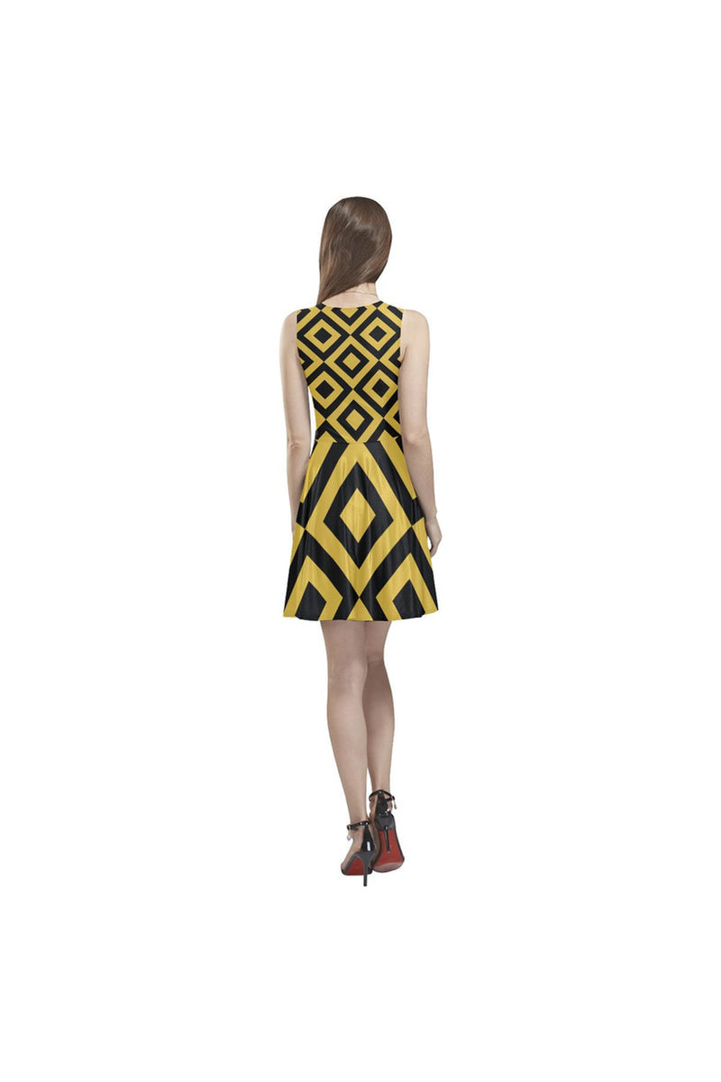 Golden Diamonds Thea Sleeveless Skater Dress - Objet D'Art Online Retail Store