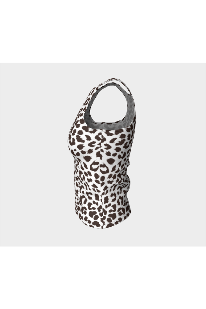 Leopard Print Fitted Tank Top