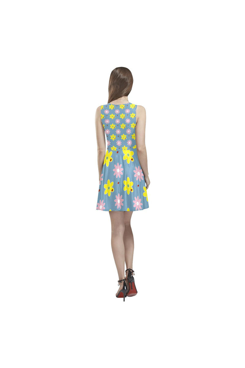 Floral Fountain Thea Sleeveless Skater Dress - Objet D'Art Online Retail Store