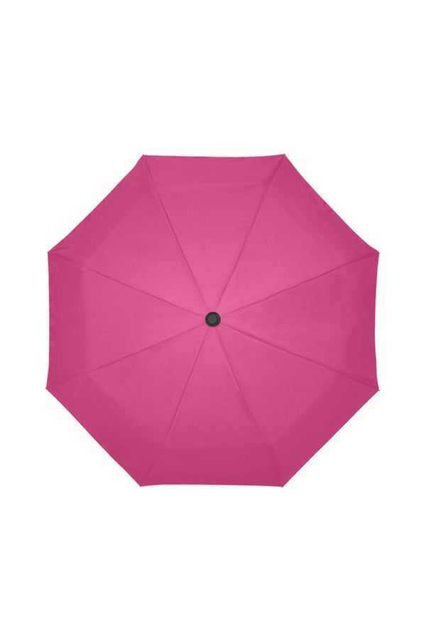 Peacock Pink Auto-Foldable Umbrella (Model U04)