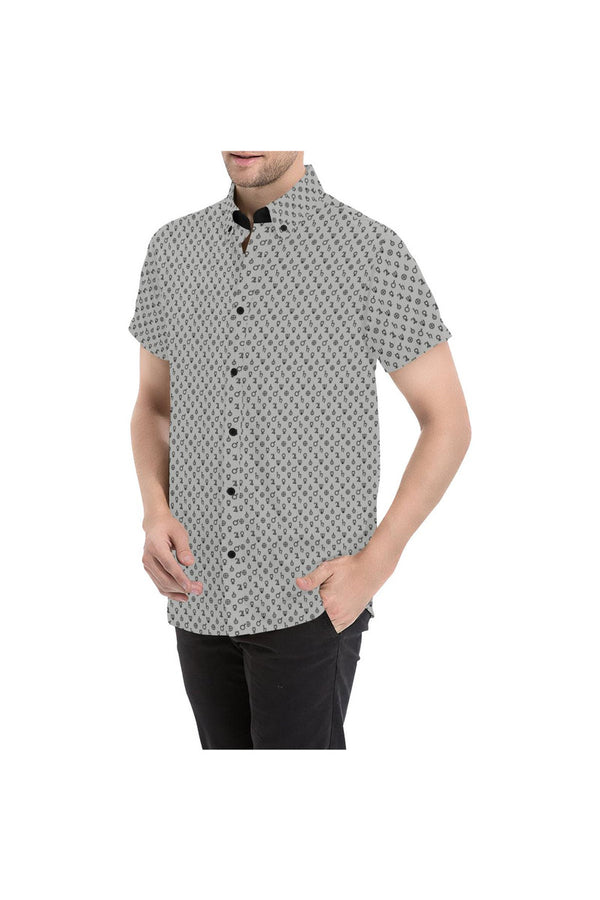 Planet Symbols Men's All Over Print Short Sleeve Shirt