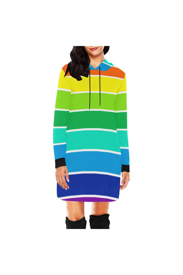 Rainbow Bright Hoodie Mini Dress